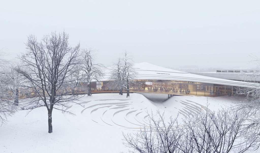 Biblioteca Ibsen. Foto Kengo Kuma & Associates02