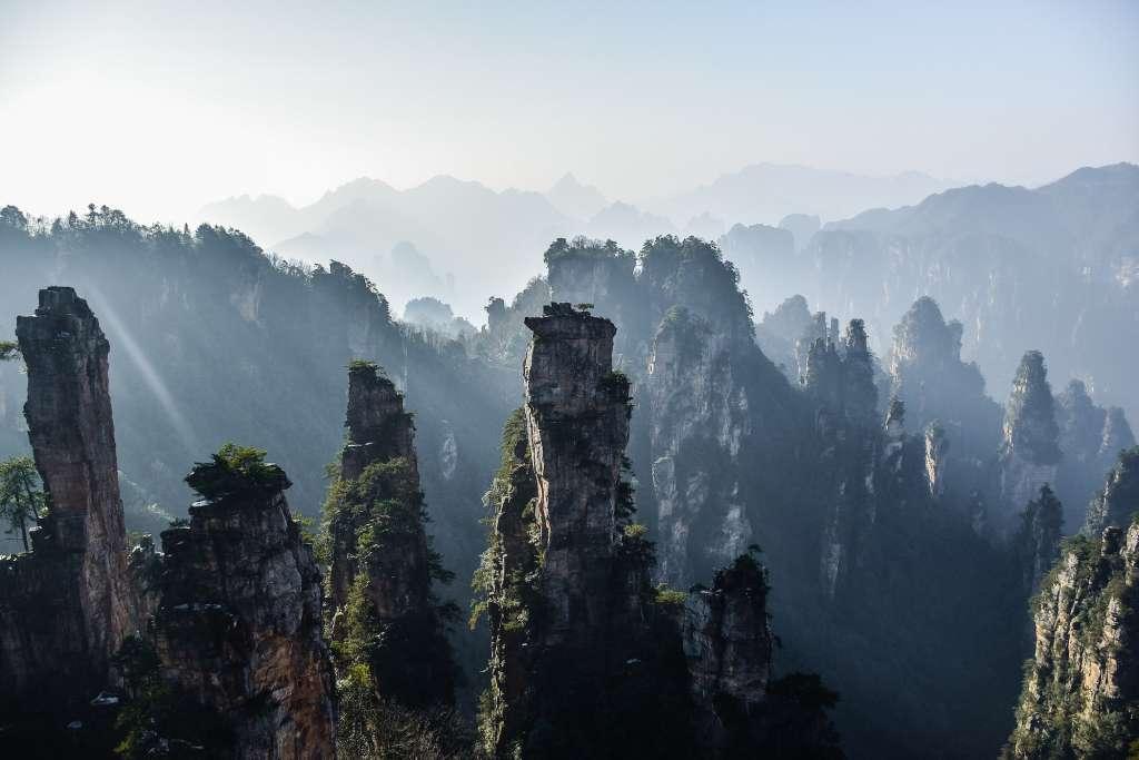 El parque nacional Zhangjiajie. Foto Robynne Hu Unsplash