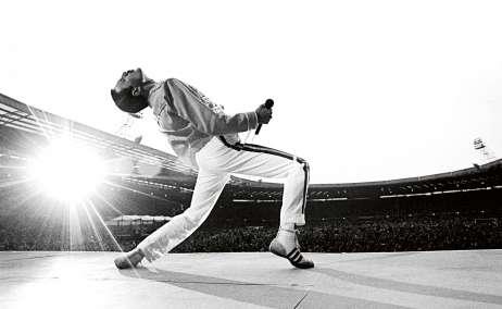 Freddie Mercury. Wembley Stadium 1986 Foto Neal Preston - Editorial RAP 16