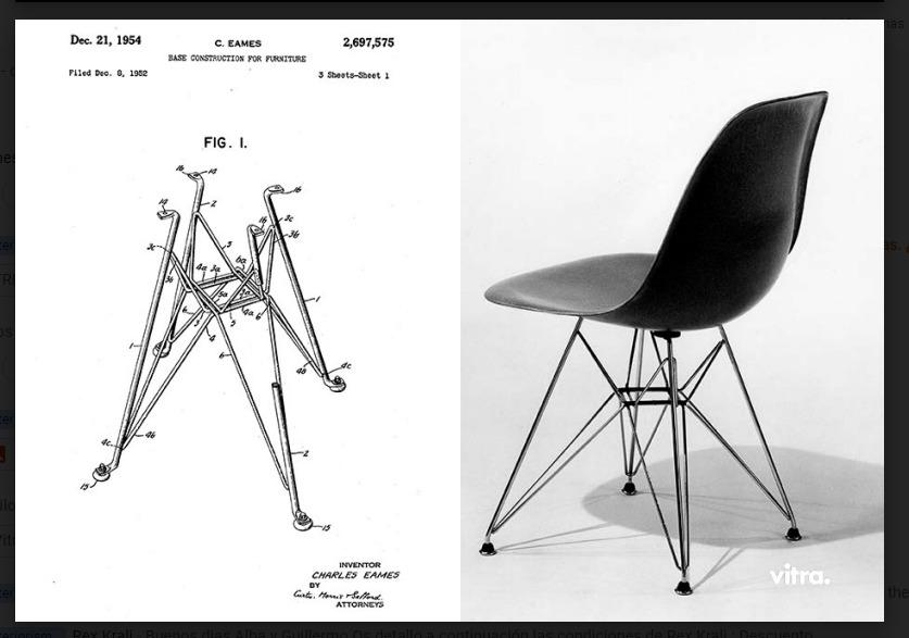 Planos de la silla Eames Fiberglass. Foto: Vitra.