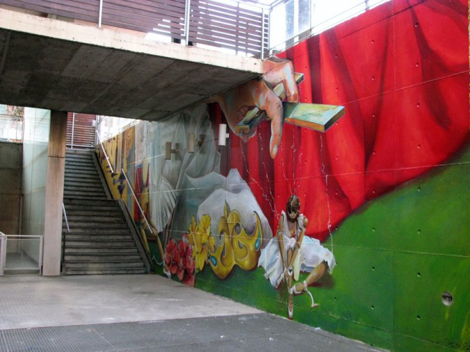 Somos Agua, somos arte. Foto Muralismo Público