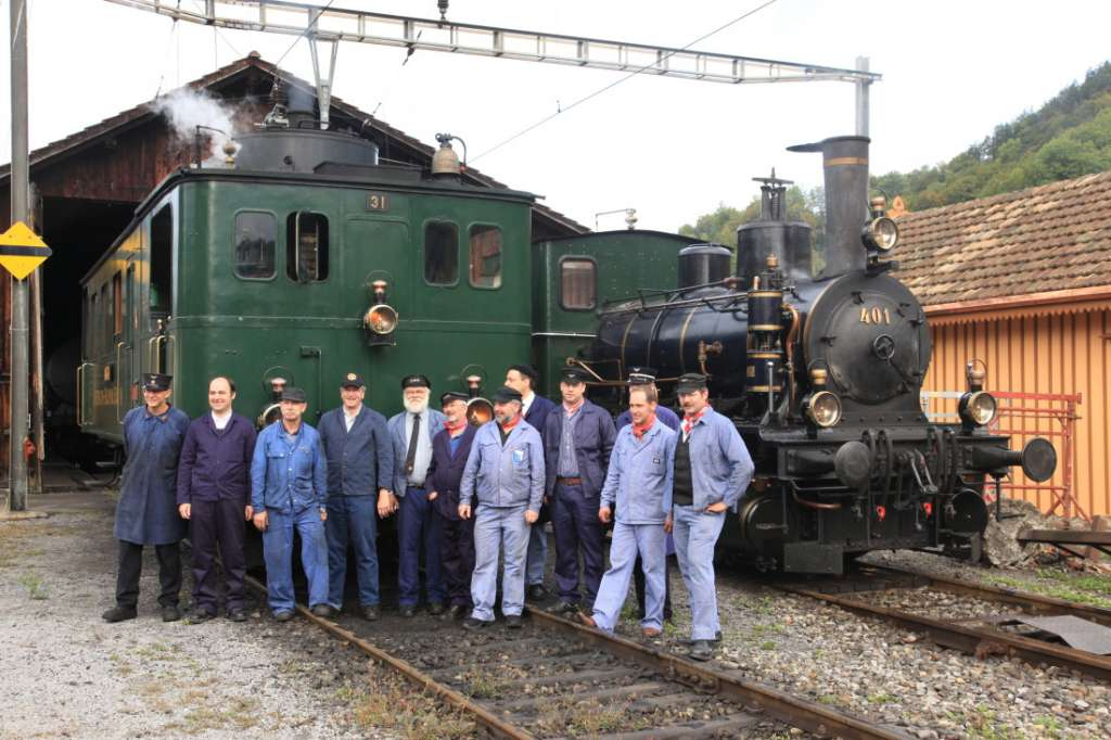 Voluntarios del ferrocarril de Zurich Oberland