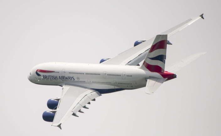 A380 de British Airways. Foto Etienne Laurent-EFE