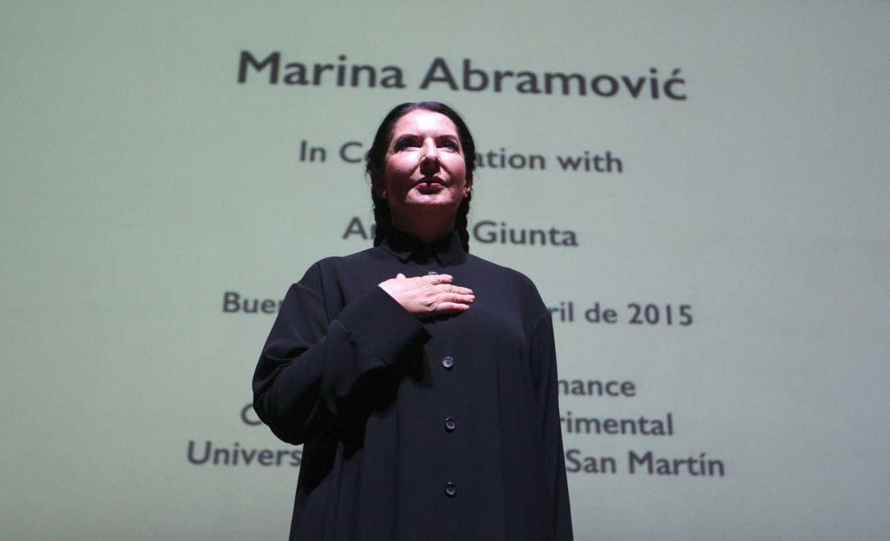 Marina Abramovic. Foto David Fernández   EFE