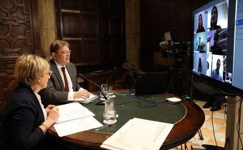 President de la Generalitat, Ximo Puig, y consellera de Sanitat, Ana Barceló