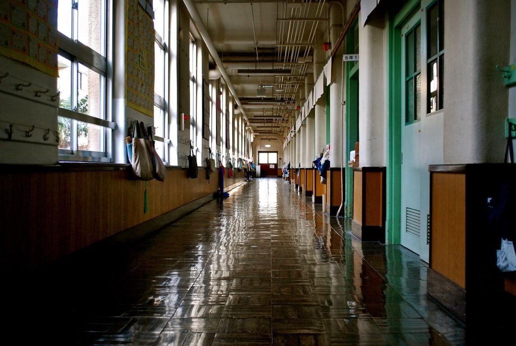 Un colegio vacío. EFE