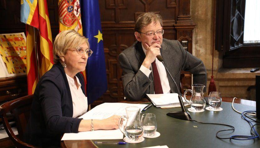 Ximo Puig, president de la Generalitat Valenciana, y Ana Barceló, consellera de Sanitat