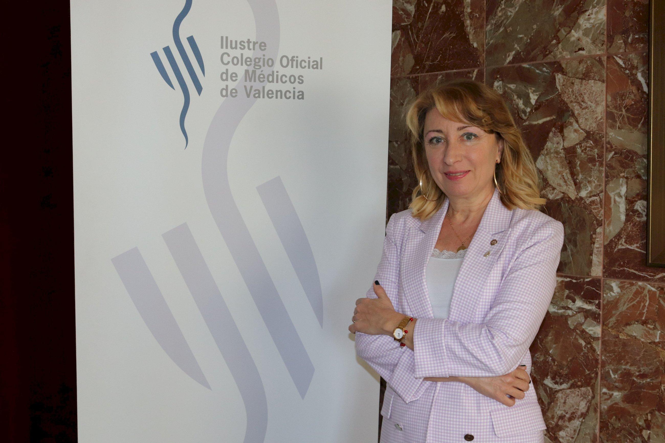 La presidenta del Colegio Oficial de Médicos de Valencia, Mercedes Hurtado