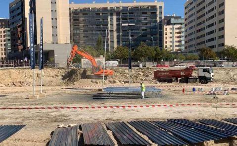 Primeros trabajos de construcción en la parcela de la promoción Irala de AEDAS Homes en Alicante.