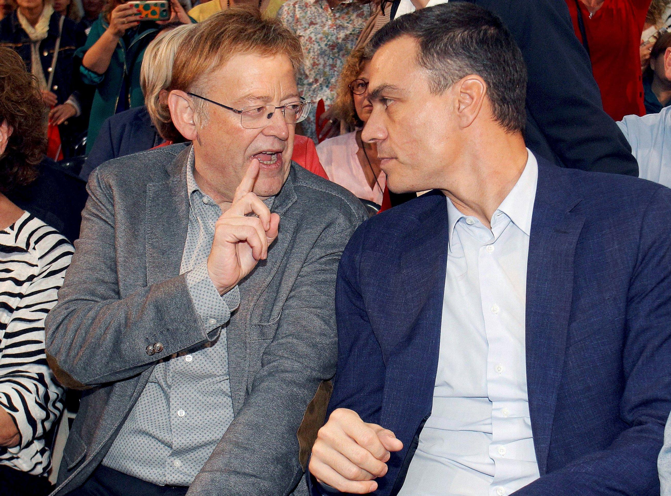 Ximo Puig y Pedro Sánchez. EFE.