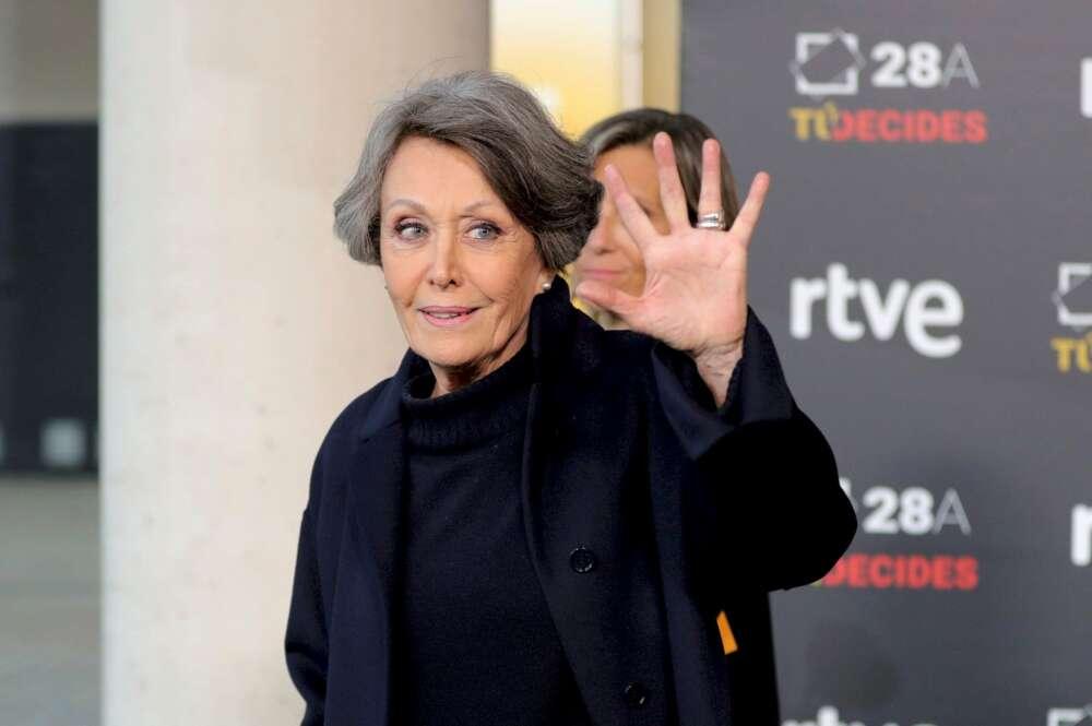 Rosa María Mateo, administradora única de RTVE desde hace casi tres años, a su llegada al debate electoral del 28-A que emitió La 1 desde Prado del Rey el 22 de abril de 2019 | EFE/JJM/Archivo