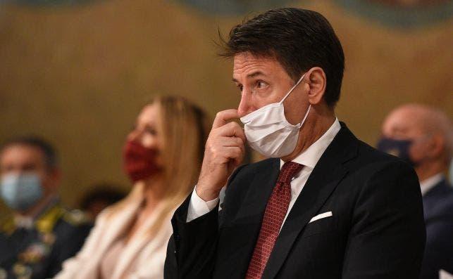 El primer ministro italiano, Giuseppe Conte, en un acto en Perugia, Italia, el 4 de octubre de 2020   EFE/EPA/GMC/Archivo