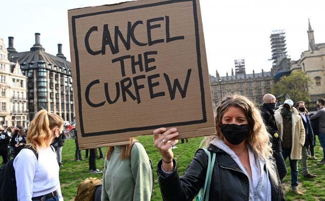 Protesta contras las medidas contra el coronavirus en Londres, el 19 de octubre de 2020 | EFE/EPA/FA