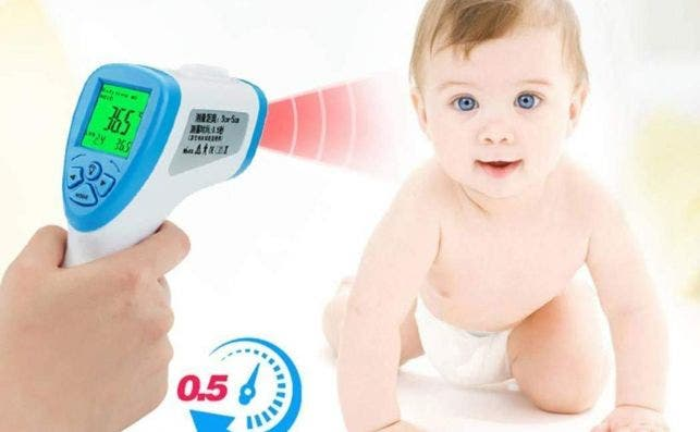 Termómetro digital infrarrojos. Fotografía: Amazon