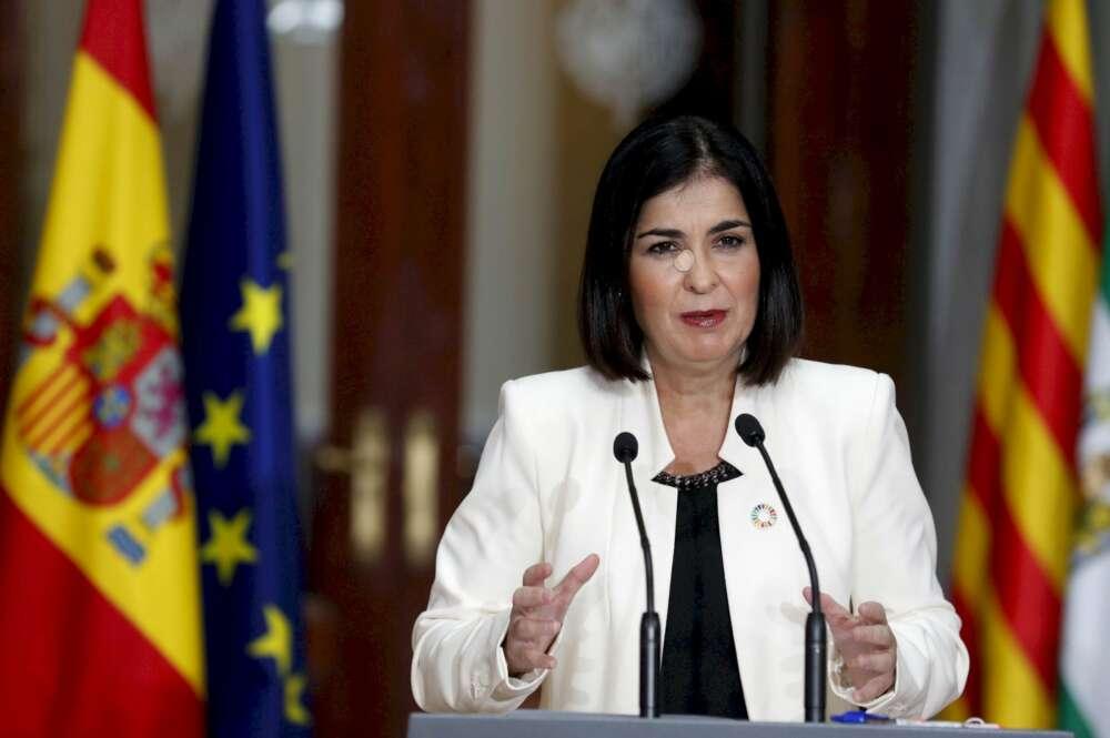 La ministra de Sanidad, Carolina Darias, durante una rueda de prensa el 26 de octubre de 2020 | EFE/CM/Pool
