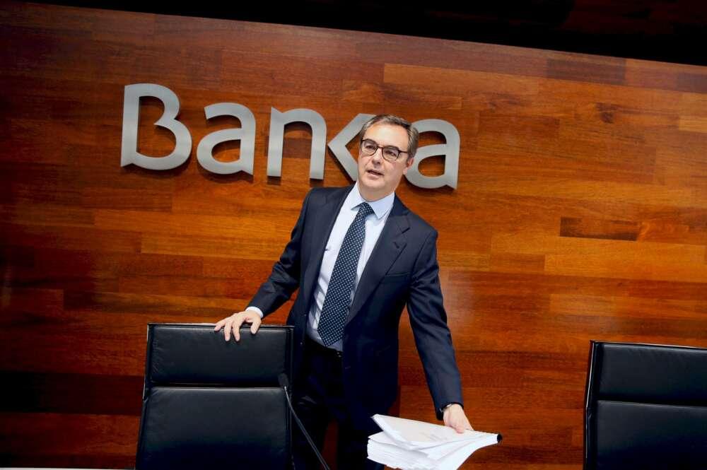 El consejero delegado de Bankia, José Sevilla, no formará parte de la entidad tras su fusión con Caixabank. EFE/ Paco Campos/Archivo
