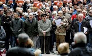 Concentración de pensionistas. Foto: EFE/VL