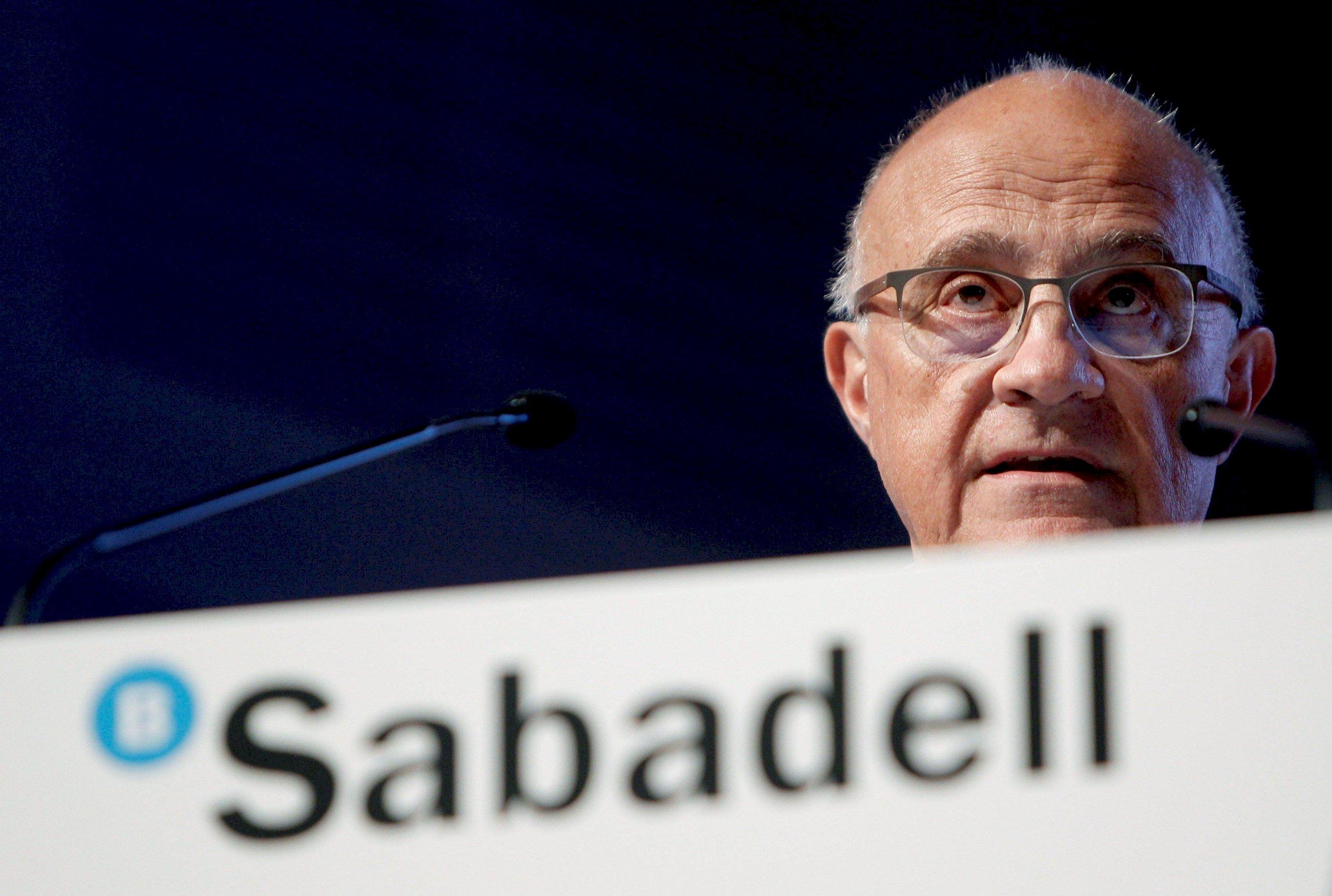 El presidente de Banc Sabadell, Josep Oliu. EFE