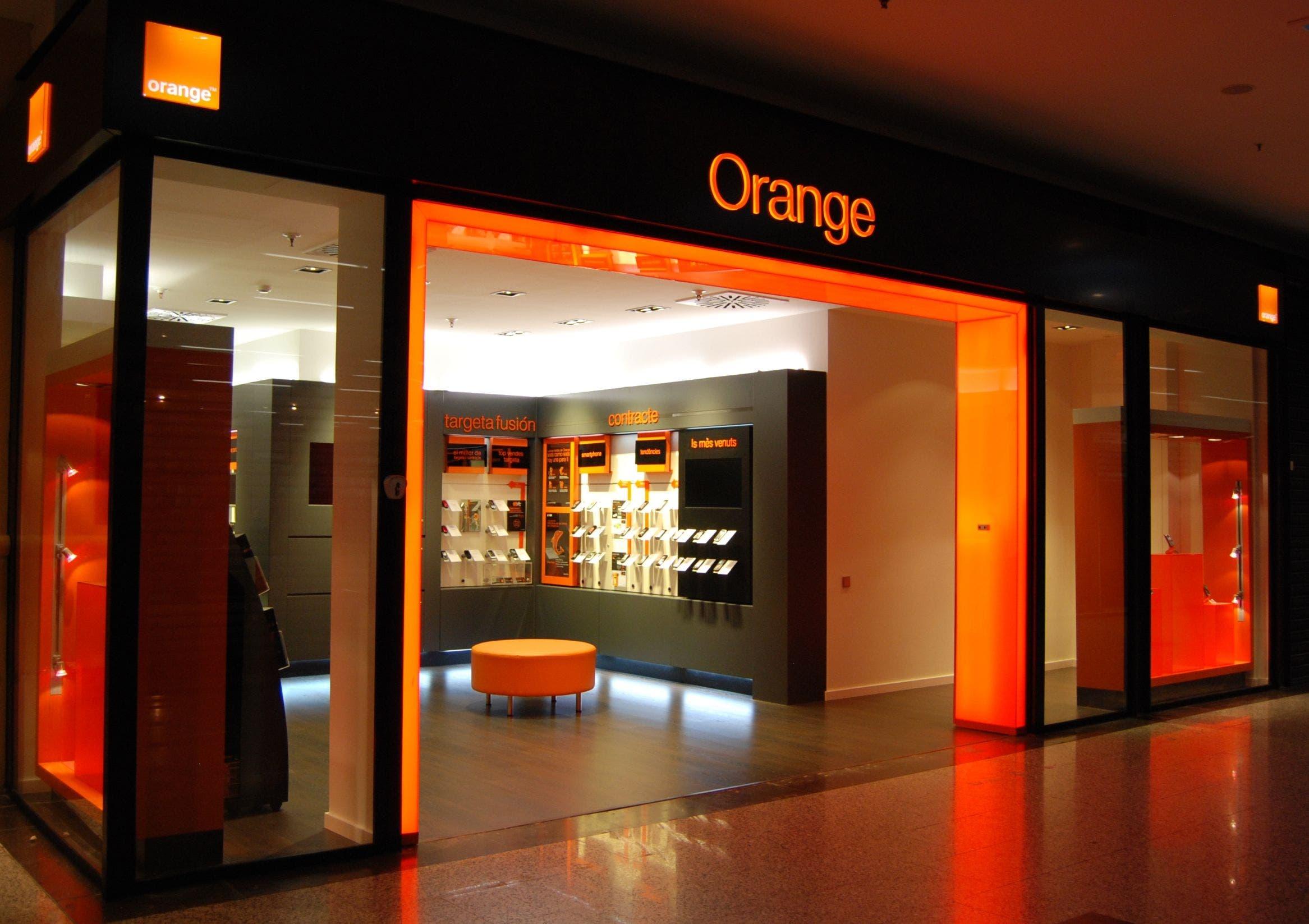 Una tienda de Orange.