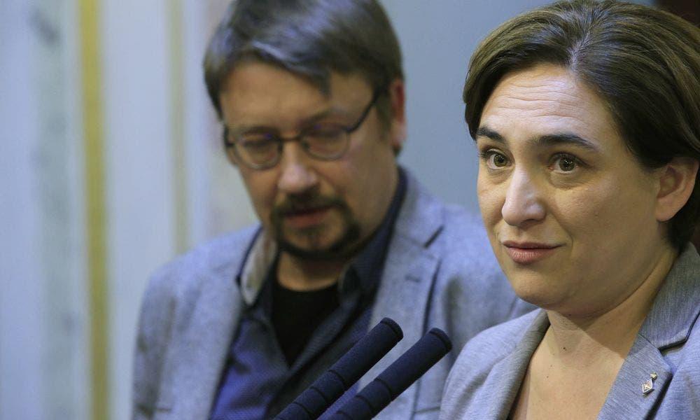 Xavier Domènech y Ada Colau, en una imagen de archivo. /EFE