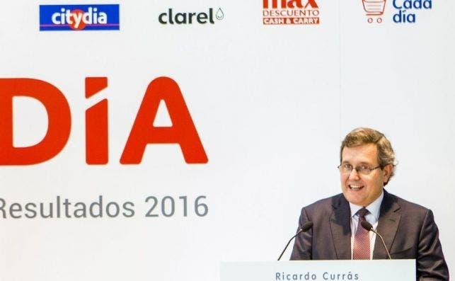 DIA asusta a los inversores: no ven claro su futuro. En la imagen, Ricardo Currás, consejero delegado de DIA.