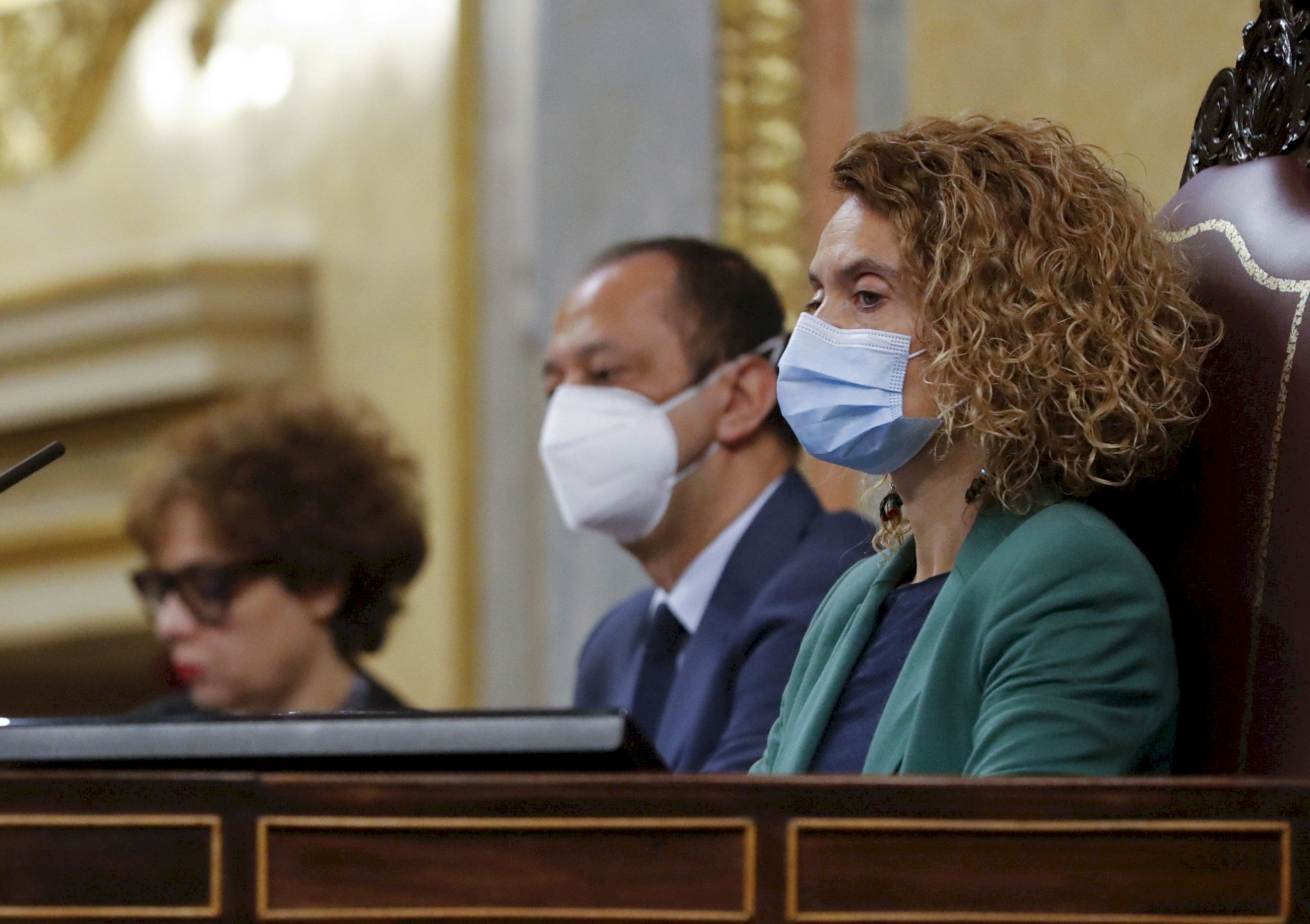 La presidenta del Congreso, la socialista Meritxell Batet, en el pleno de la Cámara Baja / EFE