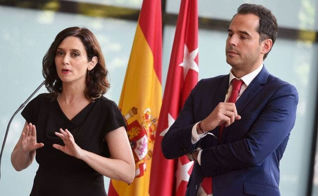 Isabel Díaz Ayuso e Ignacio Aguado./ EFE