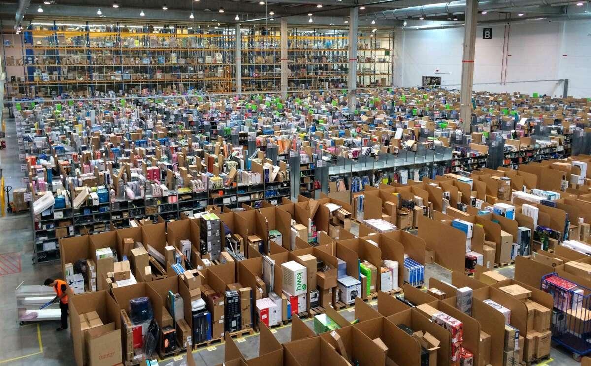 El almacén de Amazon en Madrid.