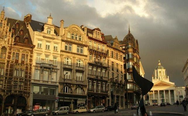 Bruselas al atardecer