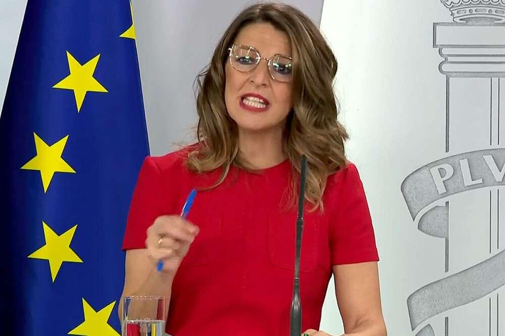Yolanda Díaz, ministra de Trabajo. EFE