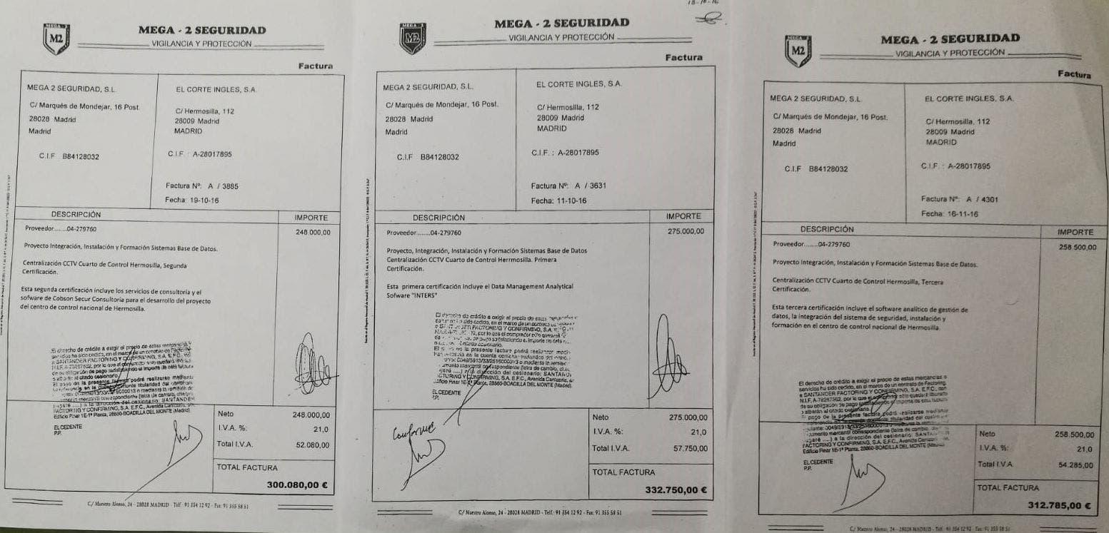 Contratos firmados por Juan Carlos Fernández-Cernuda en favor de Mega-2.