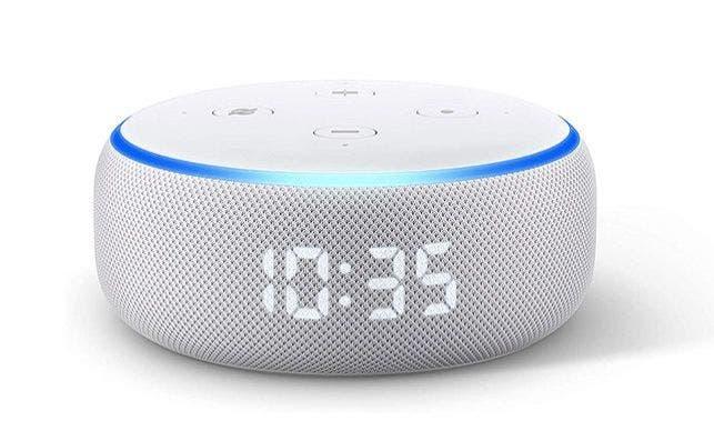 Altavoz inteligente Echo Dot (con reloj) de Amazon