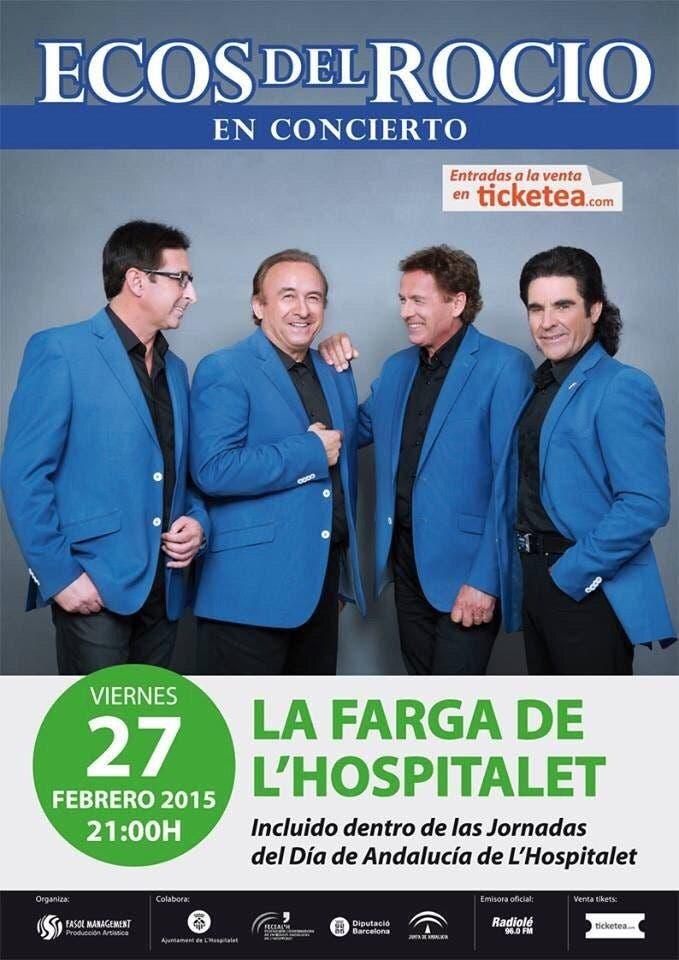 Cartel promocional del concierto organizado por Fasol Management.
