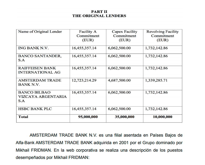 Extracto del documento de la fiscalía