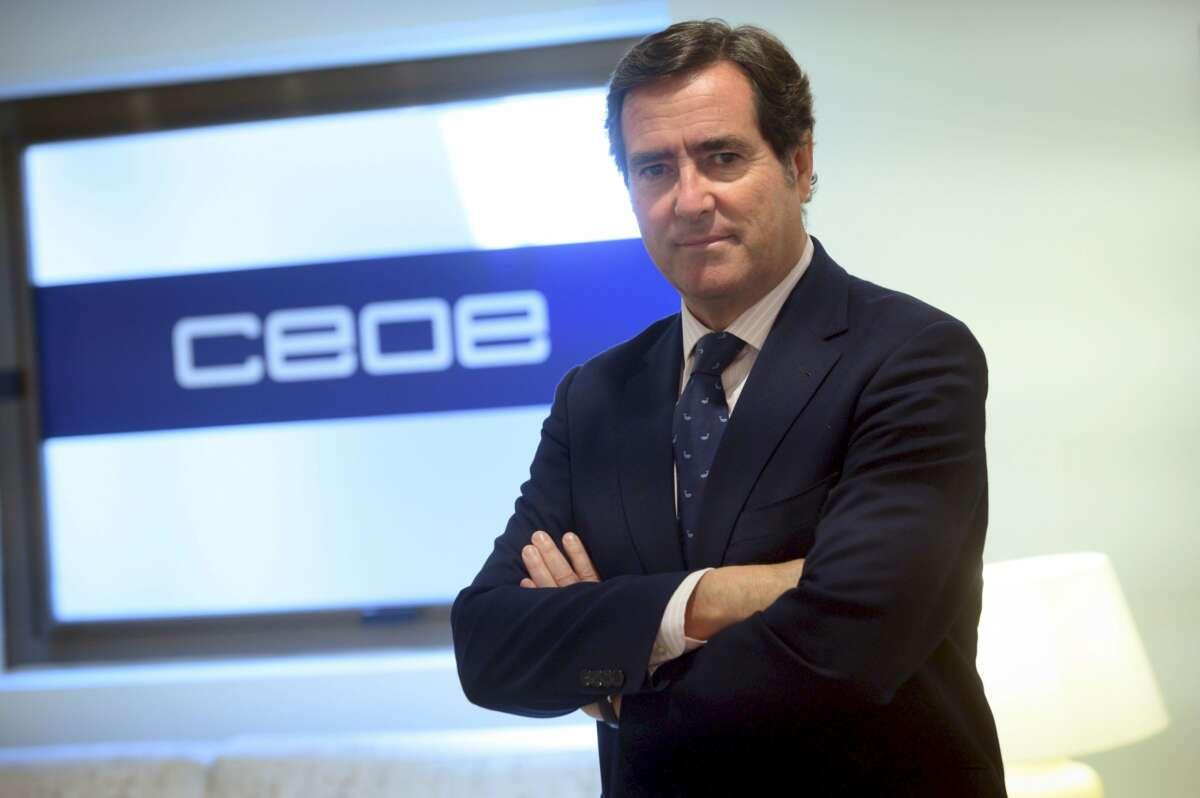 El presidente de la CEOE, Antonio Garamendi. En el comité directivo y junta directiva de este miércoles se nombrarán más vicepresidentes de la gran patronal española. /EFE/Fernando Villar