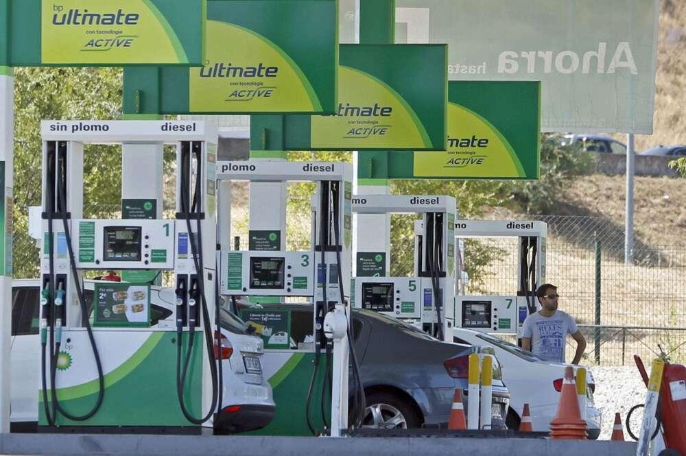 Surtidores de gasolina en una gasolinera. Foto: Efe
