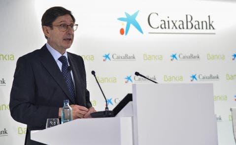 José Ignacio Goirigolzarri en la presentación de la fusión de Caixabank y Bankia. Foto: Caixabank