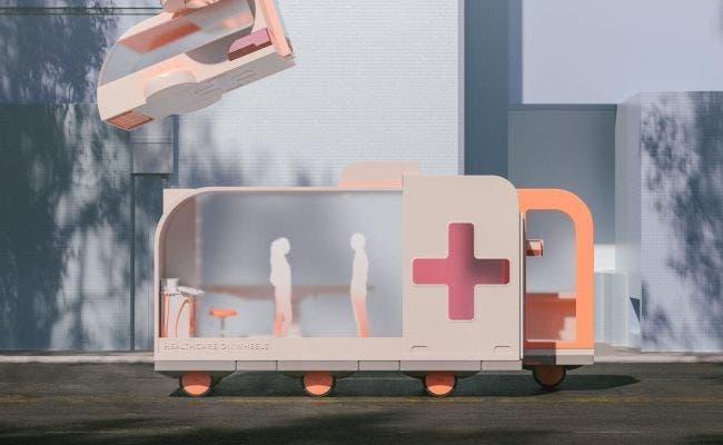 "El ""hospital sobre ruedas"" de Ikea. Foto: Space10"