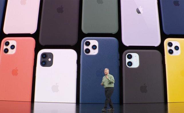 Phil Schiller, vicepresidente de Apple, durante la presentación de los iPhone 11 y iPhone 11 Pro