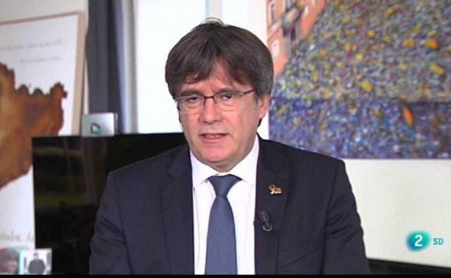 Carles Puigdemont en una entrevista en el programa 'Cafè d'idees' de TVE en Cataluña, el 28 de septiembre de 2020 | RTVE