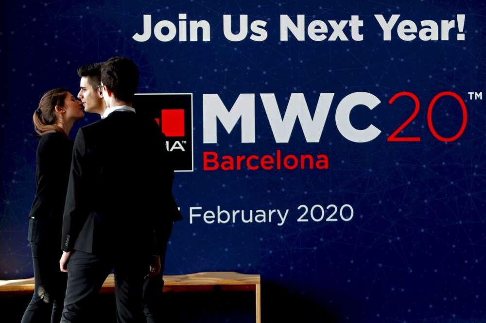 Salida de asistentes de la última jornada del Mobile World Congress de 2019 en la Fira de Barcelona, el último que se pudo celebrar antes de la pandemia de coronavirus | EFE/TA/Archivo