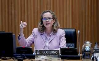 La vicepresidenta tercera y ministra de Asuntos Económicos, Nadia Calviño. EFE/ Emilio Naranjo