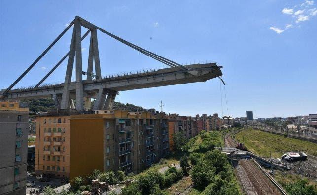 Ponte Morandi, en Génova, se hundió en agosto de 2018 y dejó más de 40 muertos. ASPI, propiedad de Atlantia, gestionaba la infraestructura. EFE