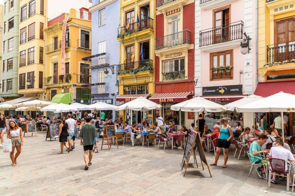 Terrazas en Valencia. / EFE