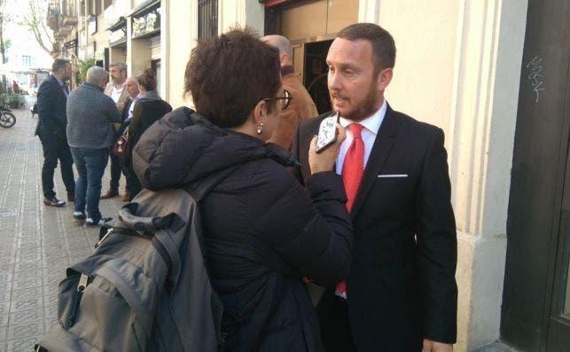 El presidente de la FECAD, Daniel Salinero, después de la presentación de la Feria de Abril de Barcelona de este año. /ED