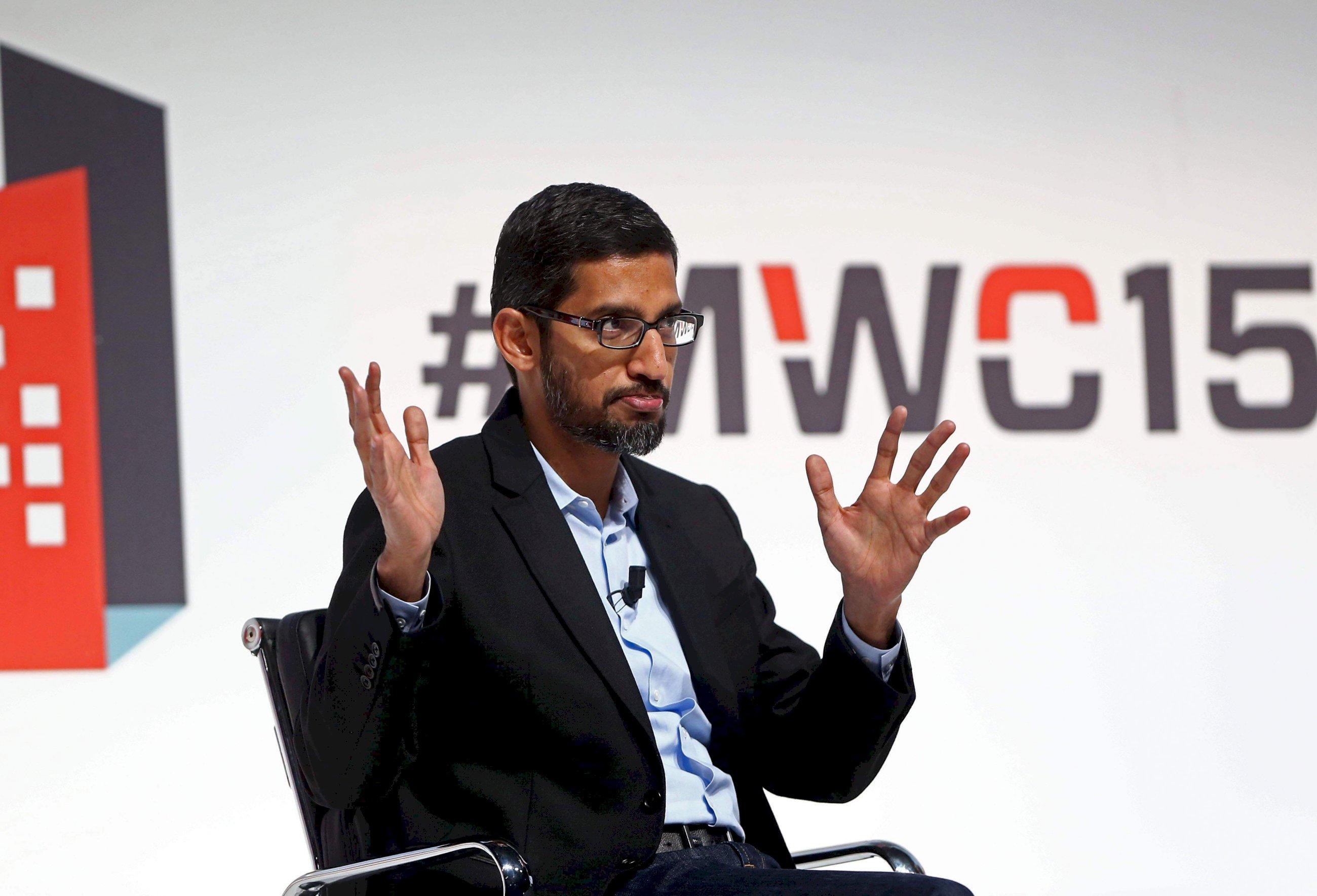 Sundar Pichai, consejero delegado de Google, en el MWC de Barcelona de 2015 | EFE/TA/Archivo
