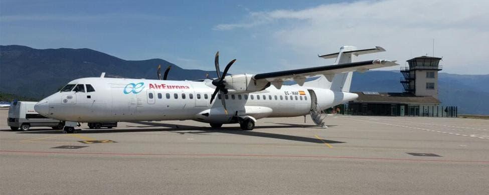 Un aparato de Air Europa en el aeropuerto Andorra-La Seu / GENCAT.CAT