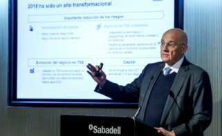 El presidente de Banc Sabadell, Josep Oliu. EFE/Emilio Naranjo