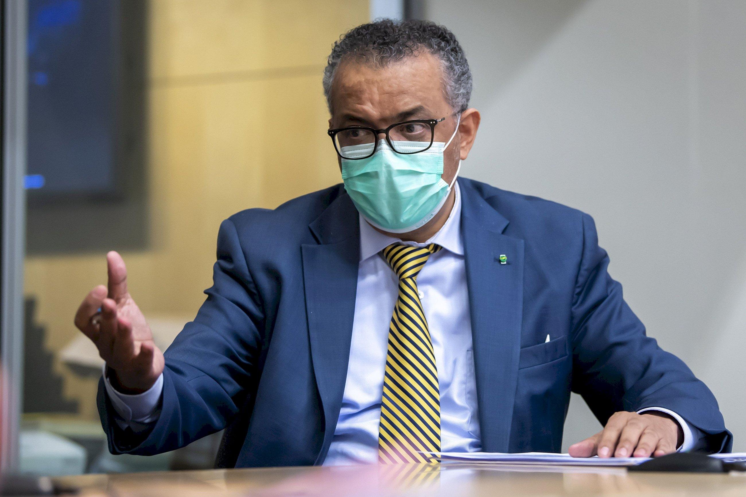 El director general de la Organización Mundial de la Salud (OMS), Tedros Adhanom Ghebreyesus, alerta sobre la subida del precio de las vacunas EFE/EPA/MARTIAL TREZZINI