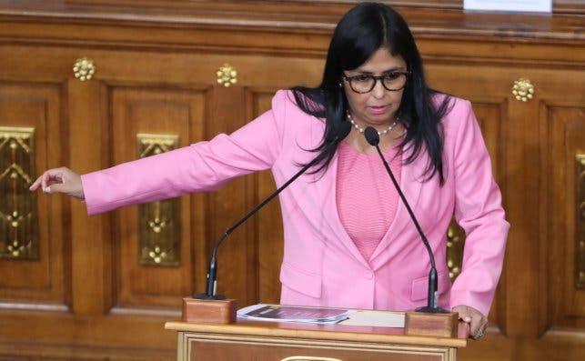 La vicepresidenta de Venezuela, Delcy Rodríguez, en diciembre de 2019. Foto: EFE/MG